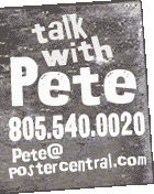 talk with Pete sign