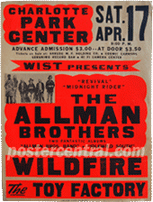 The Allman Brothers at Charlotte Park Center poster