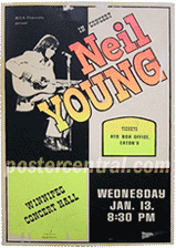 Neil Young at the Winnipeg Concert Hall poster