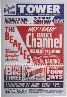 Bruce Channel, The Beatles concert poster
