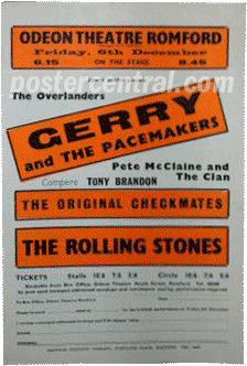 gerry and the Pacemakers, The Rolling Stones concert poster