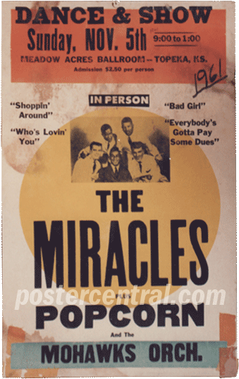 the Miracles dance and show concert poster