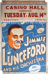 Jimmie Lunceford concert poster