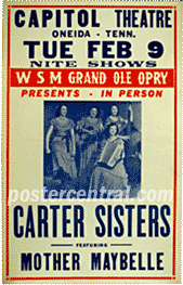 Carter Sisters concert poster