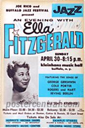 ella fitzgerald concert poster