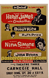 vintage jazz concert posters spanning 1930s 1960s