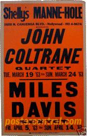 john coltrane concert poster