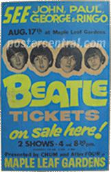 Beatles tickets poster