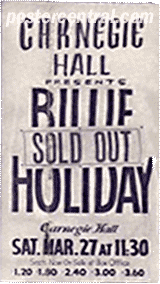 Billie Holiday carnegie Hall poster