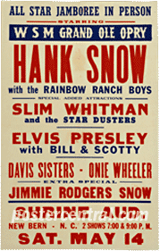 Elvis Presley poster with Hank Snow