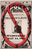 no billie holiday bootleg poster