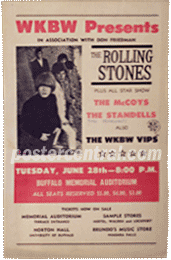 Rolling stones wkbw presents concert poster