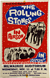 Rolling stones in person concert poster