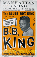 BB King concert poster