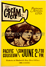 the Cream concert poster