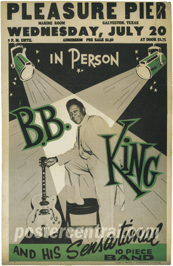 B.B. King at the Pleasure Pier concert poster