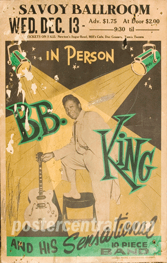 B.B. King at the Savoy Ballroom concert poster