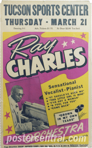 Ray charles concert jposter Tuscon