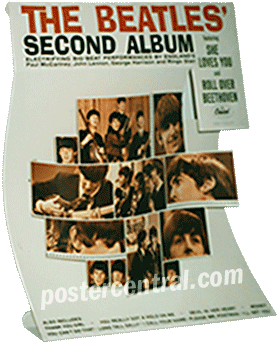 The Beatles Second Album promo display 1964