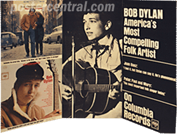Bob Dylan-America's most compelling folk artist promo display