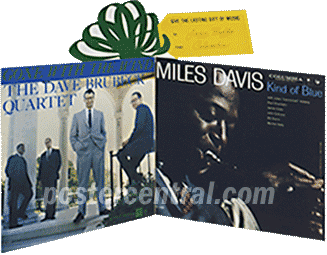 Dave Brubeck Quartet and Miles Davis promo display