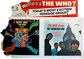 Whoooos the Who,, happy Jack, The Who sings my generation promo display