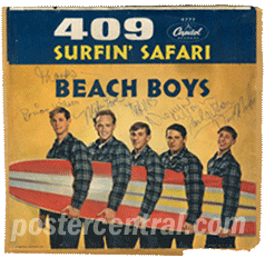 409 Surfin' Safari Beachboys autographs