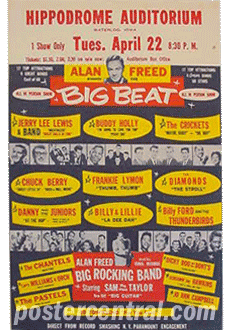 Hippodrome Auditorium Alan Freed Big Beat various artists handbill