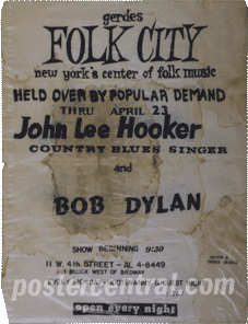 Gerdes folk city-John Lee Hooker and Bob Dylan handbill