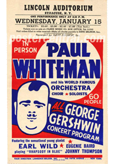 vintage concert handbills flyers of the 1950s and 60s