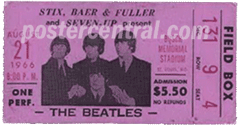 The Beatles ticket