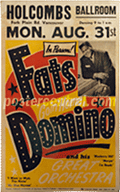 fats domino show poster Holcombs ballroom