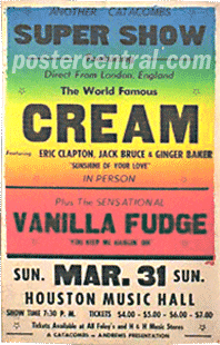 super show the cream and vanilla fudge poster