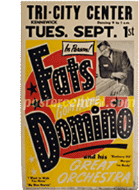 fats domino concert poster Tri City Center