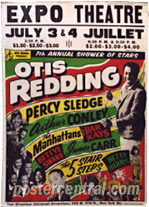 Otis Redding concert poster Expo Theater