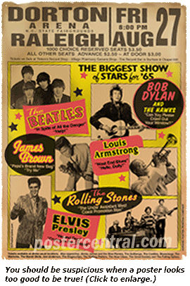 Vintage Concert Poster Bootlegs Reproductions
