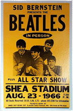 Beatles at Shea Stadium bootleg poster 1966