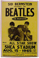 Beatles at Shea Stadium bootleg poster 1965