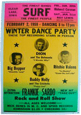 winter dance party bootleg poster