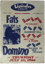 Fats Domino at Lincoln Beach bootleg poster