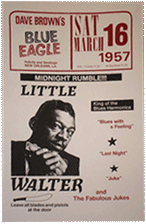 Little Walter at the Blue Eagle bootleg poster