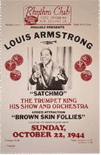 Louis Armstrong at the Rhythm Club bootleg poster