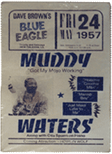 Muddy Waters at the Blue Eagle poster