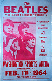 Beatles at Washington Sports Arena Bootleg poster