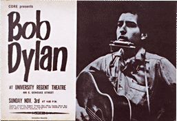 Bob Dylan at University Regent Theater bootleg poster