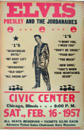 Elvis Presley at the Civic Center bootleg poster