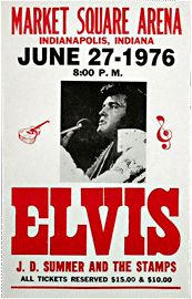 Elvis Presley at the Market Square Arena Bootleg poster