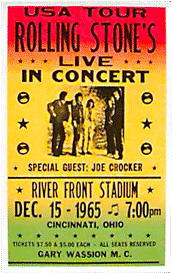 Rolling Stones at River front stadium bootleg poster