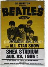Beatles at shea stadium poster