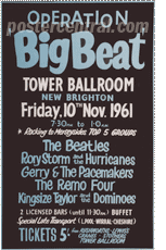 Beatles big beat poster